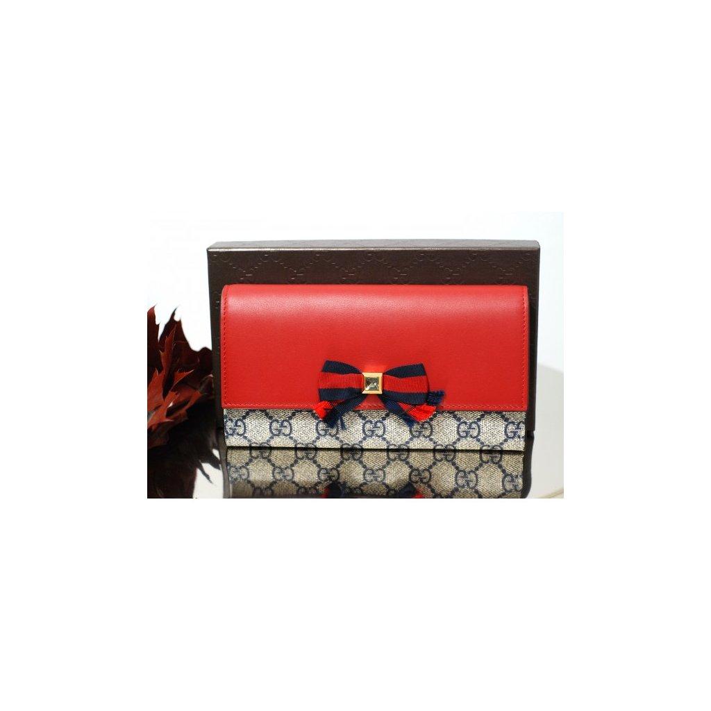 GUCCI Grosgrain GG Supreme wallet NEW