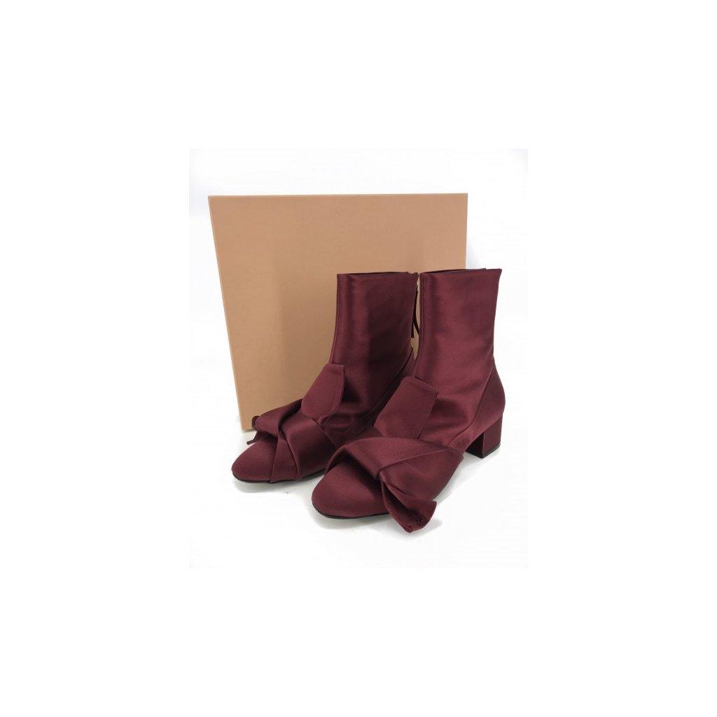 N°21 Carmine Satin Boots