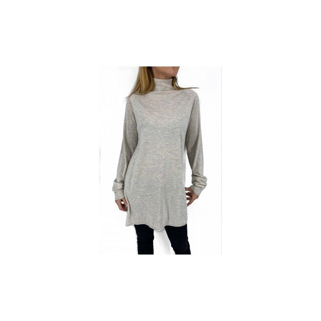 MAX MARA Silk & Wool Turtleneck Sweater