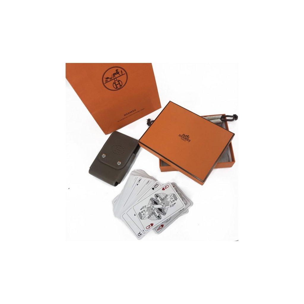 HERMÉS Leather Card Holder