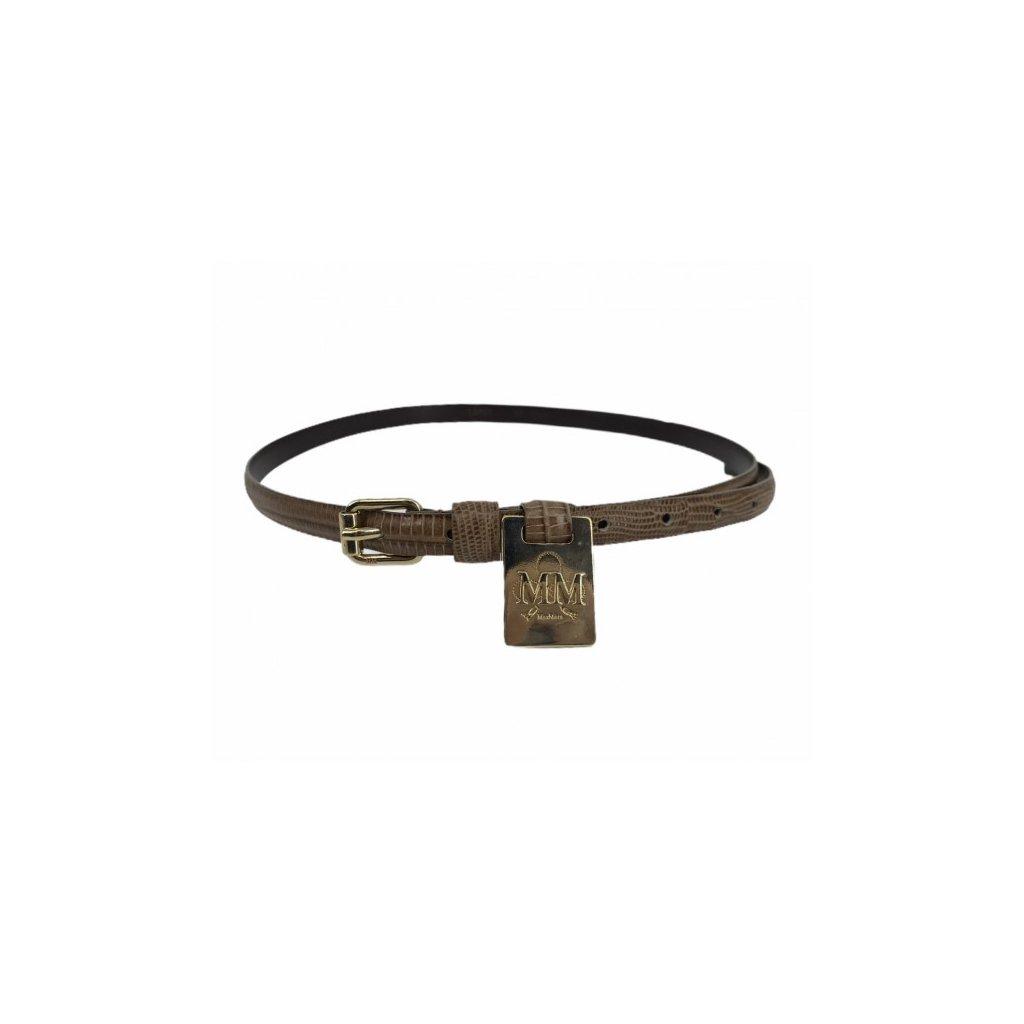MAX MARA Brown Python-Skin Belt