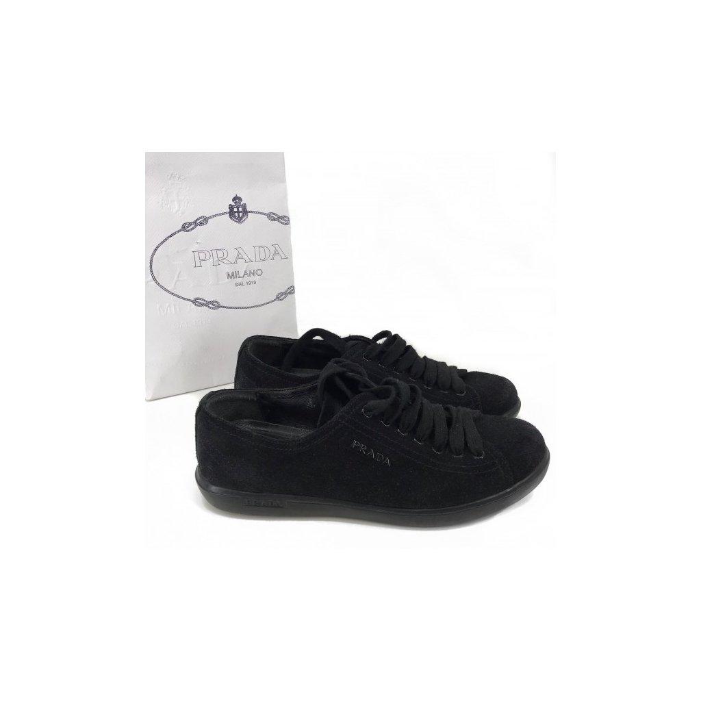 PRADA Black Suede Sneakers 36,5