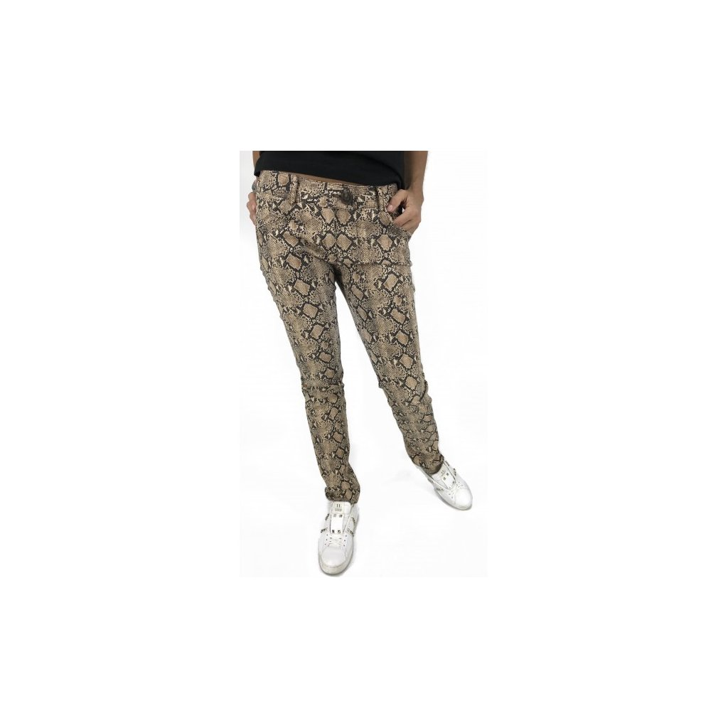 KLARA NADEMLYNSKA Python Skin Printed Pants