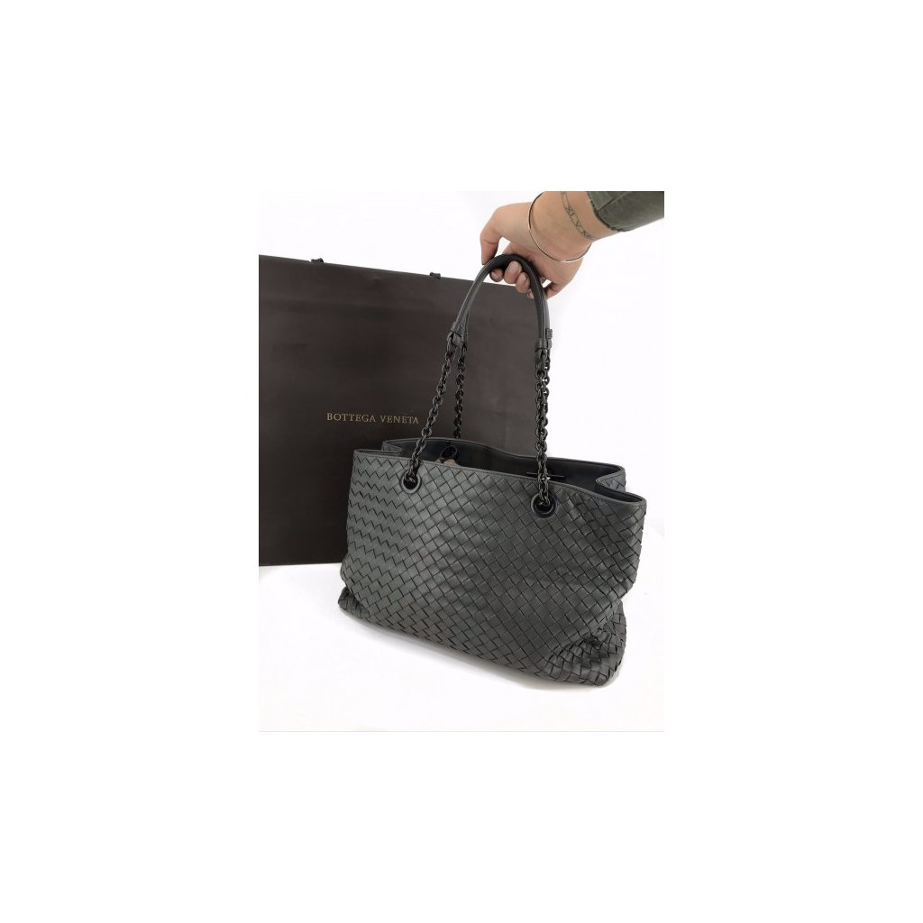 BOTTEGA VENETA Grey Shoulder Bag