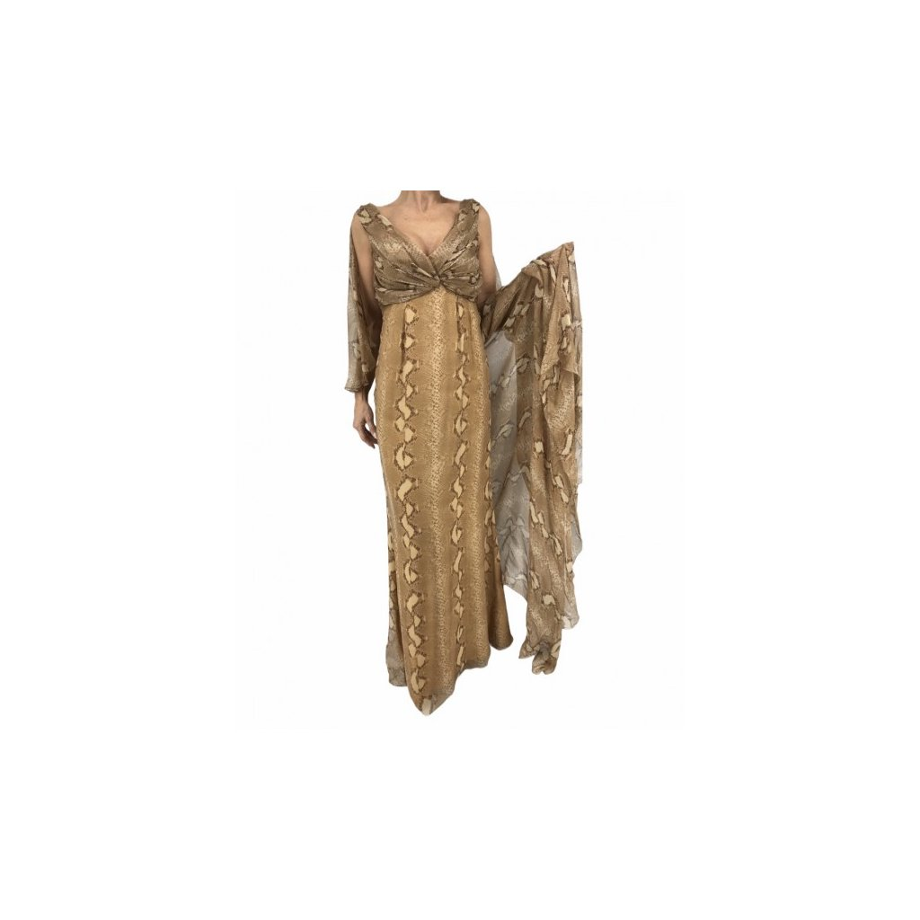 CHRISTIAN DIOR Python-Printed Silk Dress
