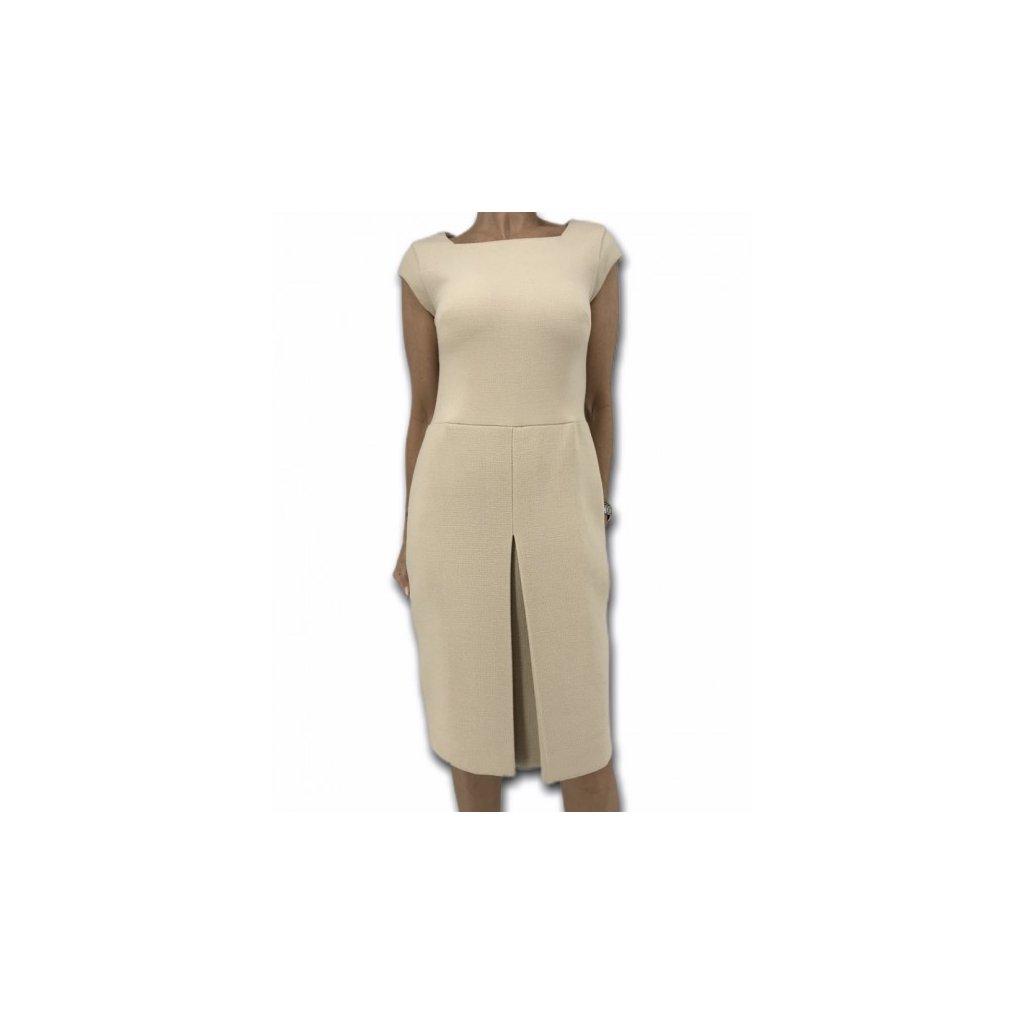 ELIE SAAB Silk & Virgin Wool Beige Dress