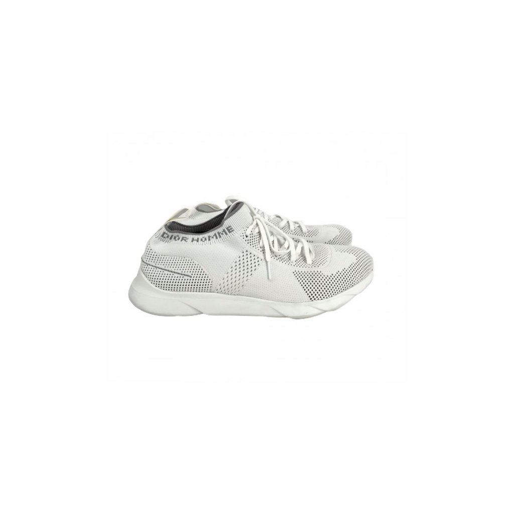 CHRISTIAN DIOR Homme White Technical Knit B 21 Low-Top Sneakers