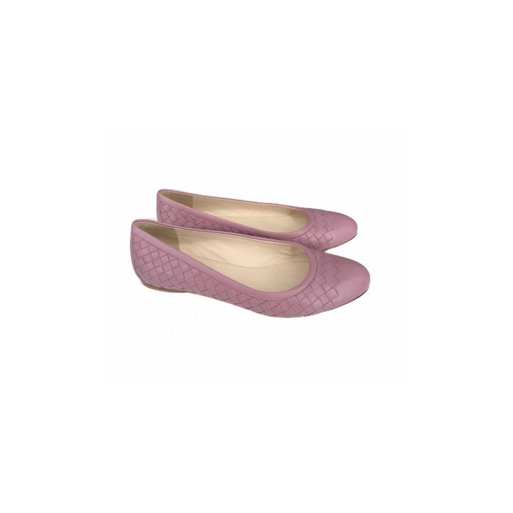 BOTTEGA VENETA Pink Ballerinas 40