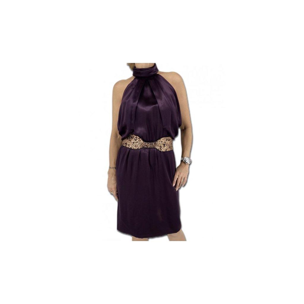 ROBERTO CAVALLI Purple Silk Dress