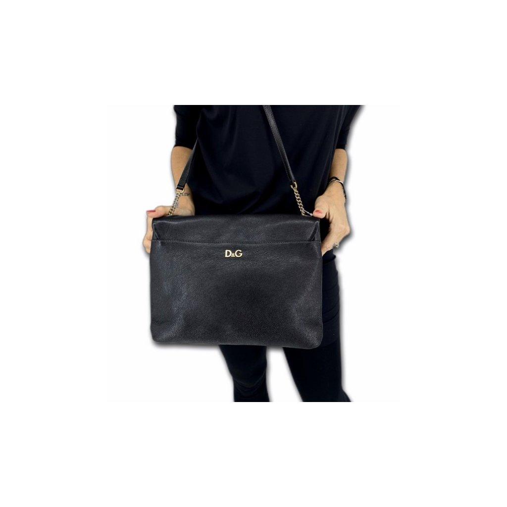 DOLCE & GABBANA Black Crossbody Leather Bag