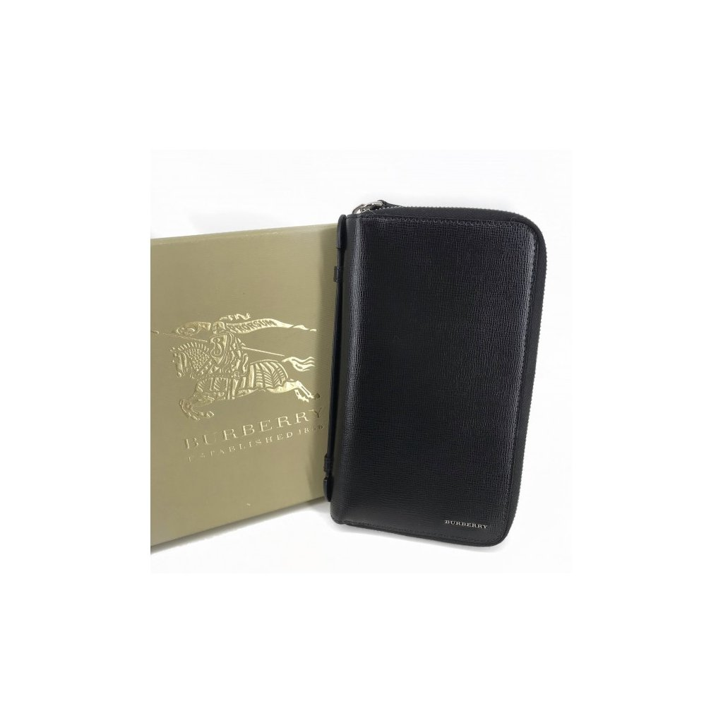 BURBERRY Black Large Wallet NEW