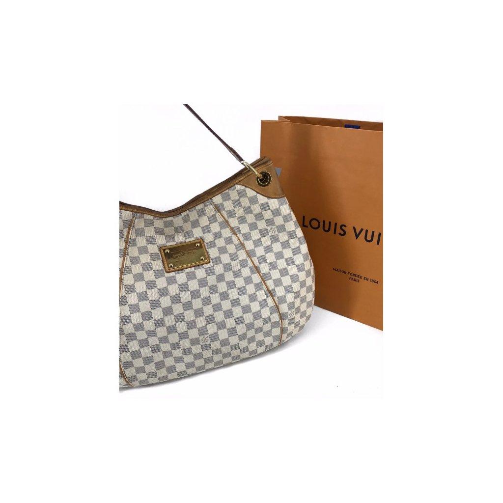 LOUIS VUITTON Damier Azur Galliera GM Bag