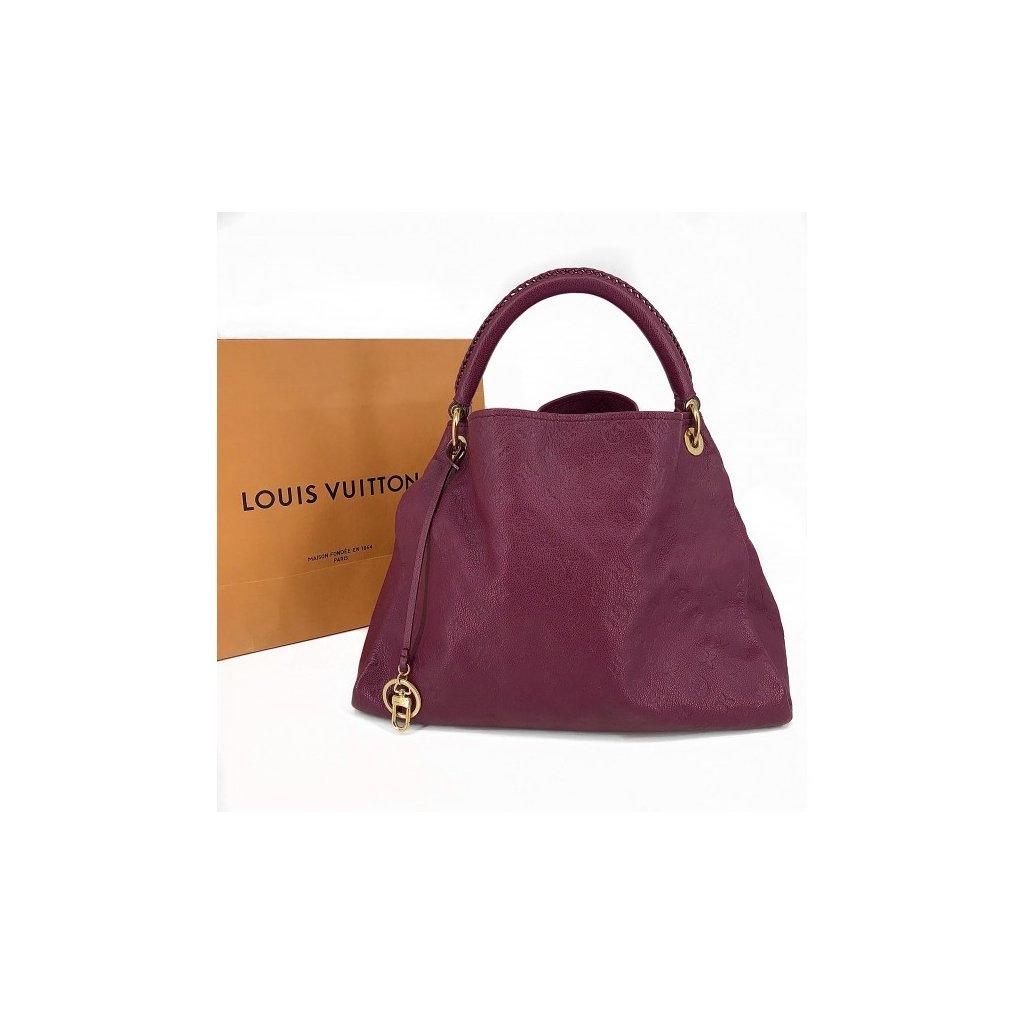 LOUIS VUITTON Artsy MM Scarlet Monogram Empreinte Leather Bag