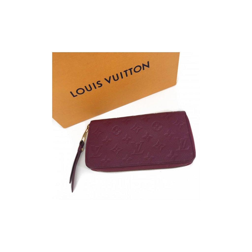 LOUIS VUITTON Scarlet Zippy Wallet Monogram Empreinte Leather