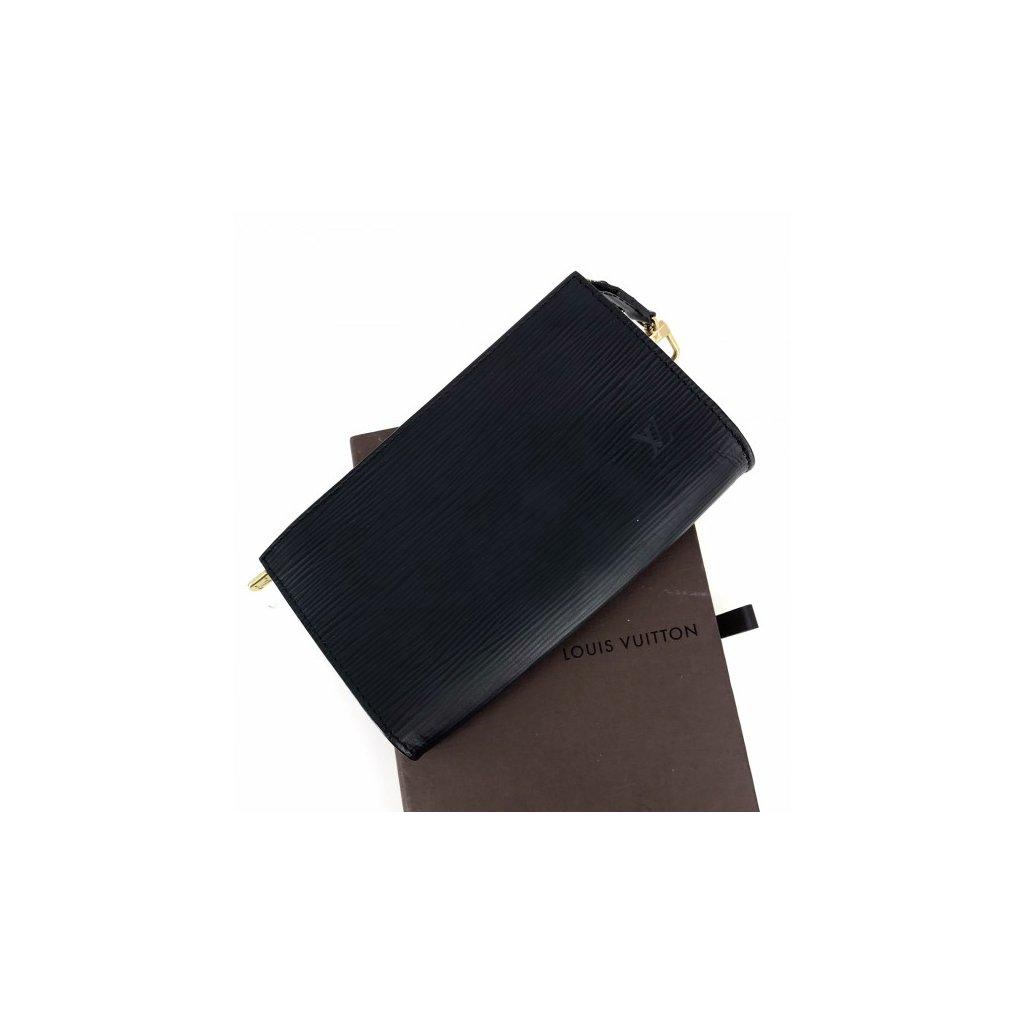 LOUIS VUITTON Noir Epi Leather Pouch