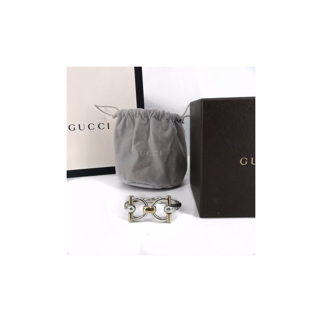 "GUCCI Horsebit Bracelet with ""G. Gucci Firenze 1921"""