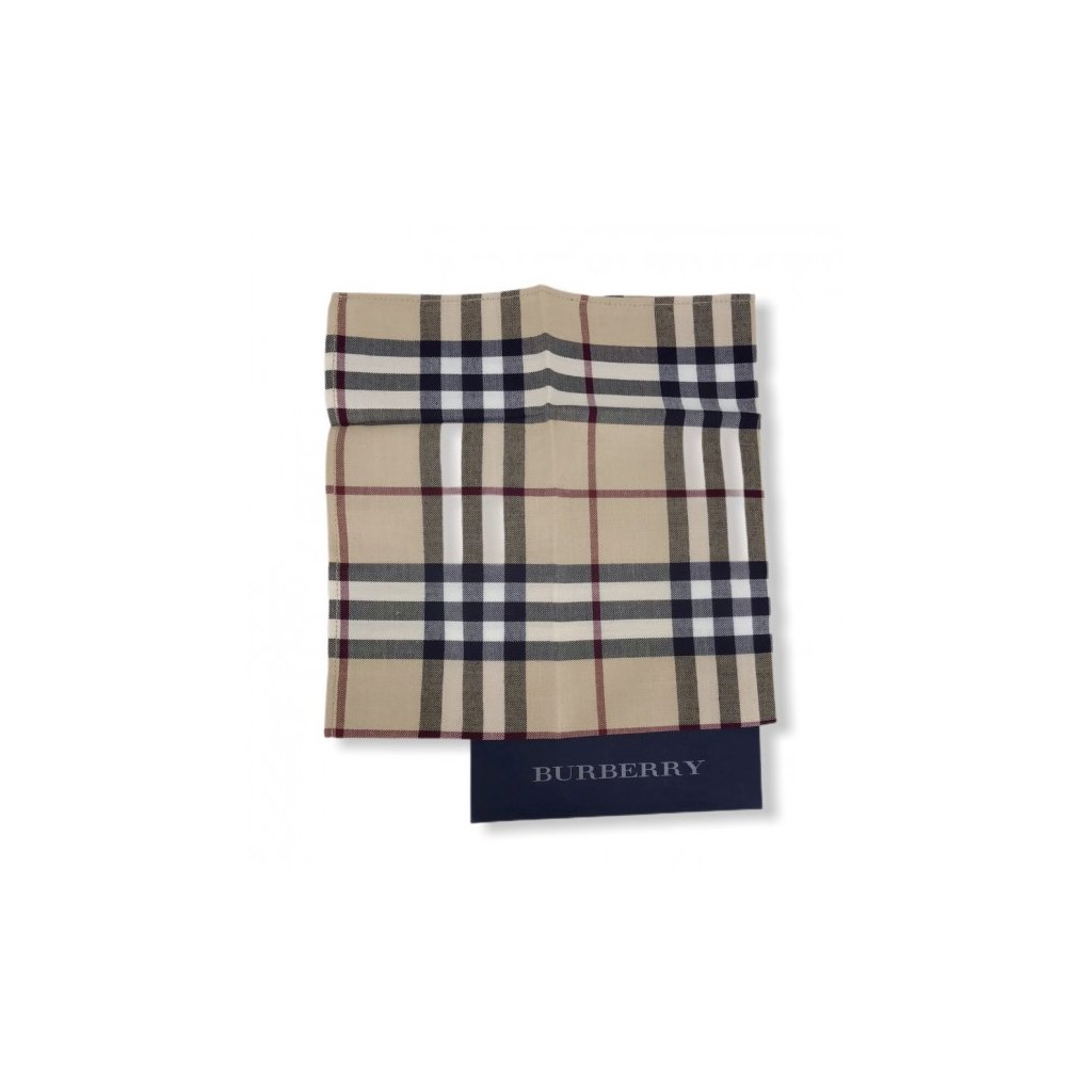 BURBERRY Small Cotton Scarf
