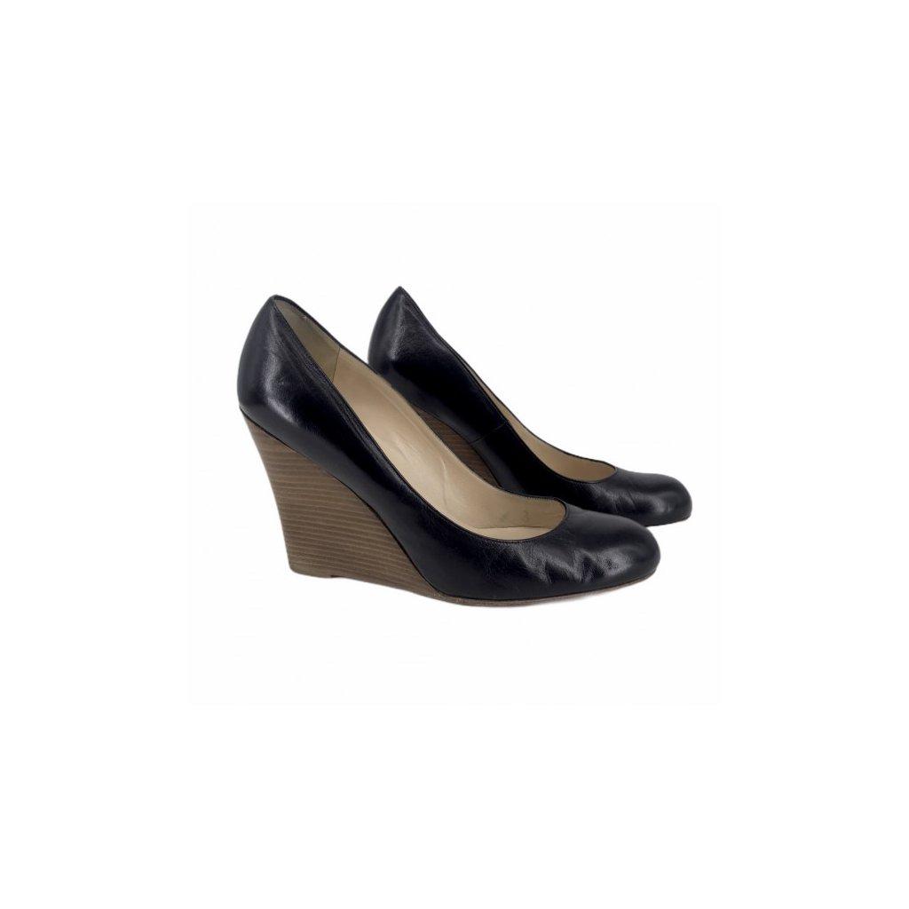 CHRISTIAN LOUBOUTIN Black Wedge Heels 41