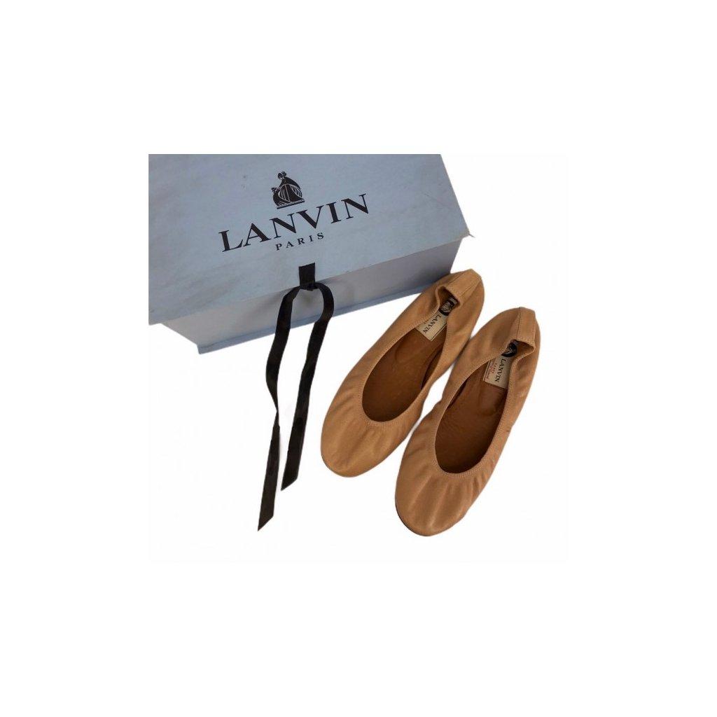 LANVIN Beige Ballerinas
