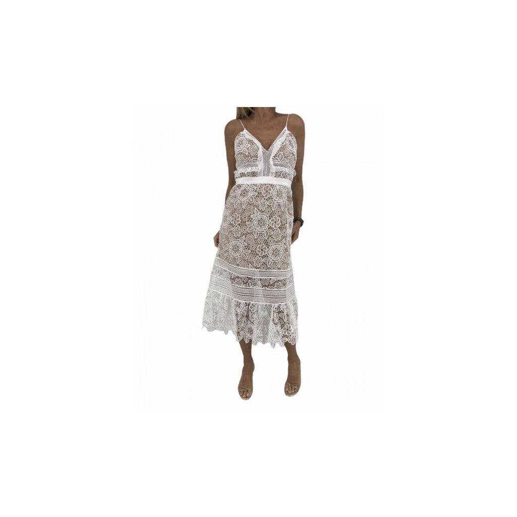 SELF-PORTRAIT White Laced Dress NEW