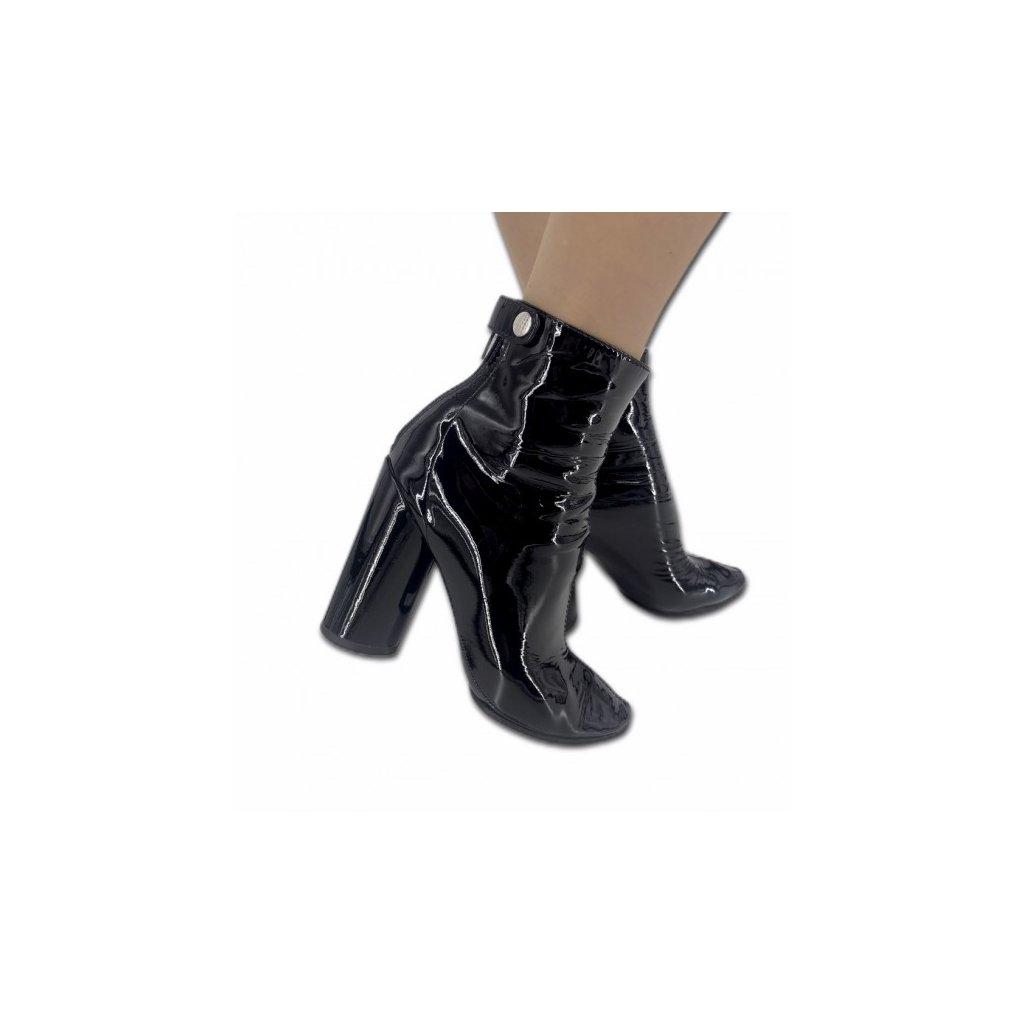 CHRISTIAN DIOR Black Ankle High Heels 37