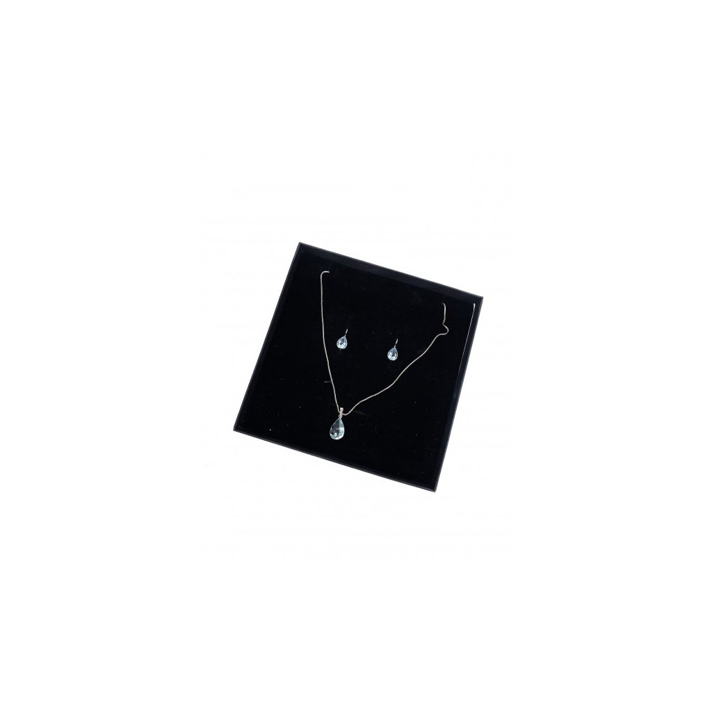 Aquamarine 18kt White Gold Set - Necklace, Earrings