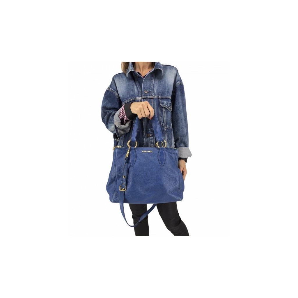 MIU MIU Blue Tote Bag