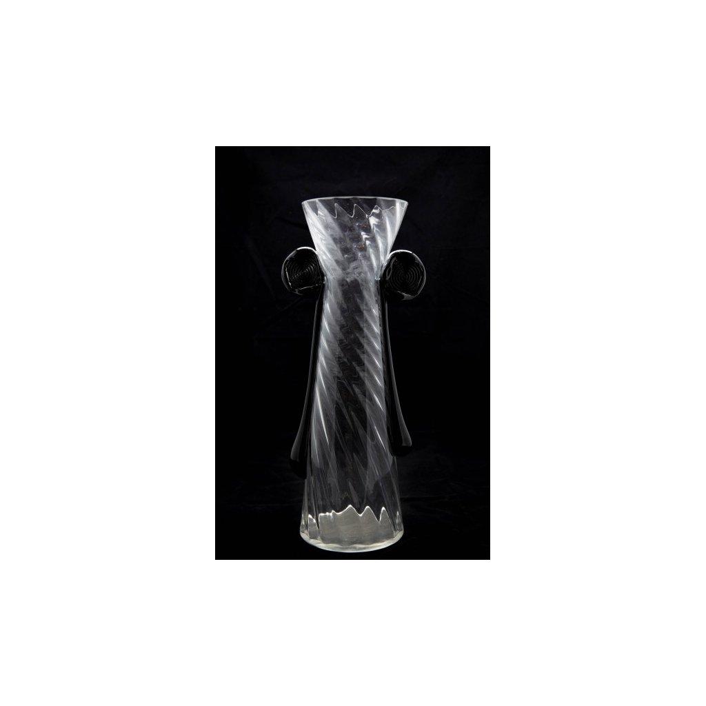 NO I skleněná váza signována Bořkem Šípkem