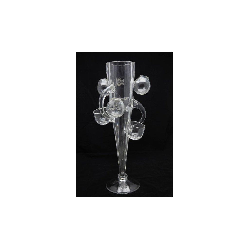 Hercík skleněná váza signována Bořkem Šípkem