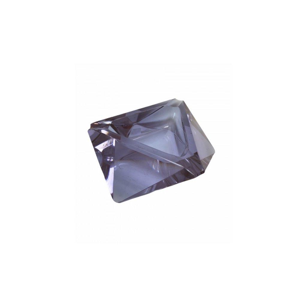 Kubistický popelník z Alexandritového skla