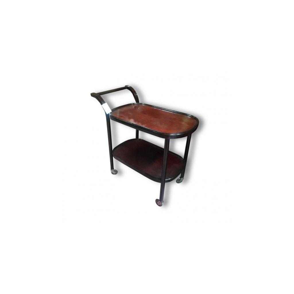 Dřevěný servírovací stolek