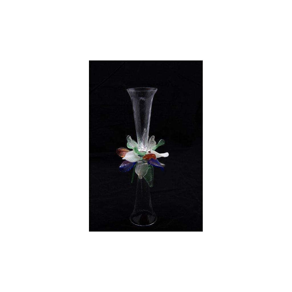 Brigitte dekorativní dvojsklenička na sekt signována Bořkem Šípkem