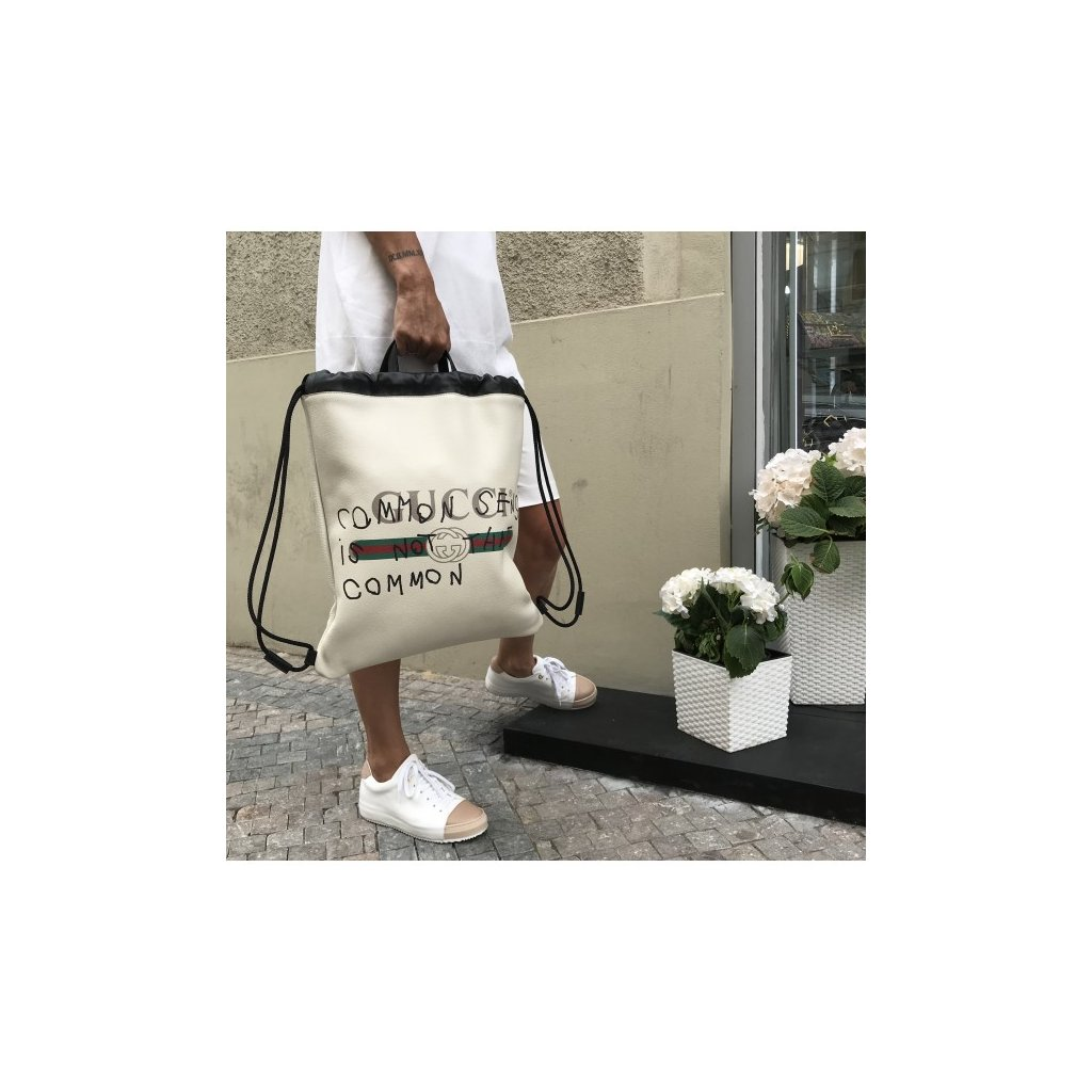 GUCCI Off-white Coco Capitan Edition ' fake ' Drawstring Backpack NEW