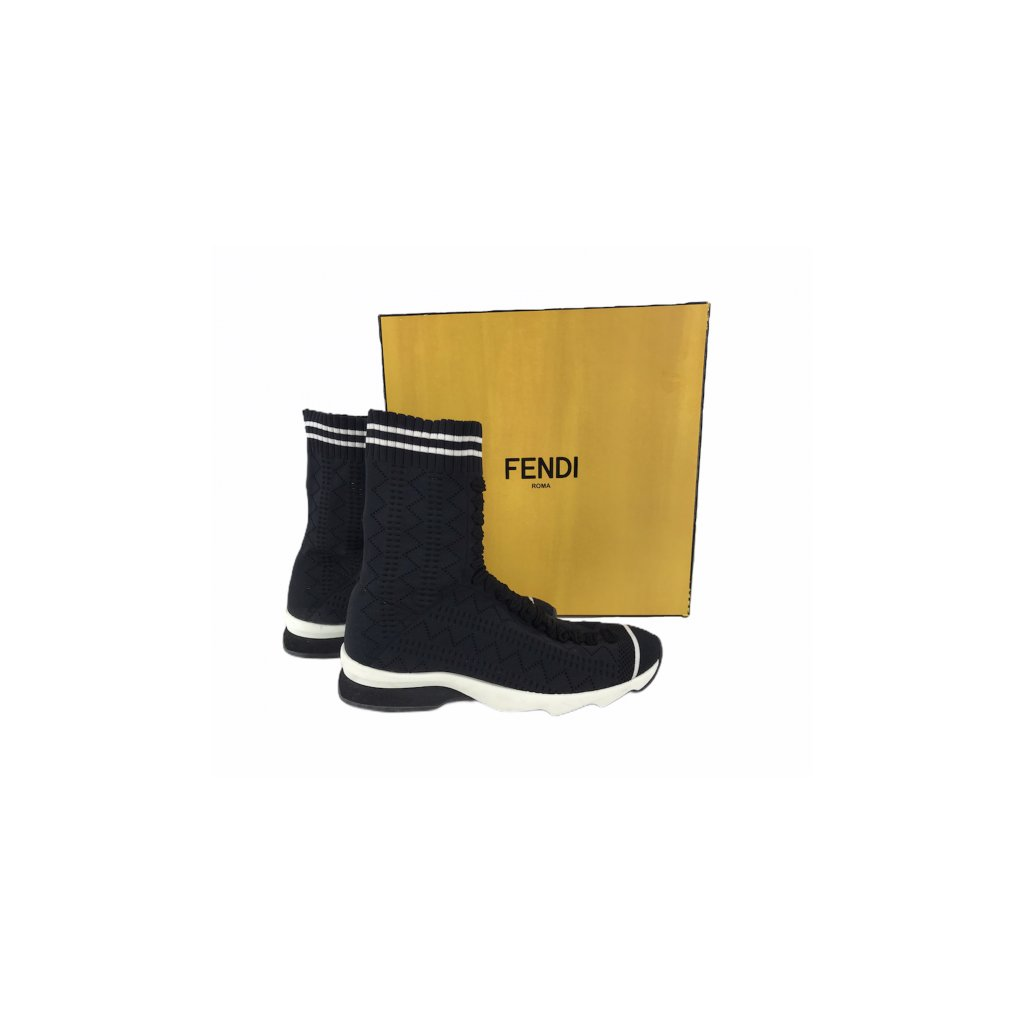FENDI High Top Sock Sneakers 37