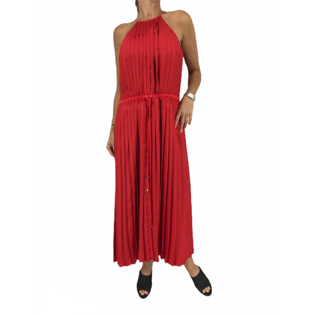TIBI Red Pleated Dress