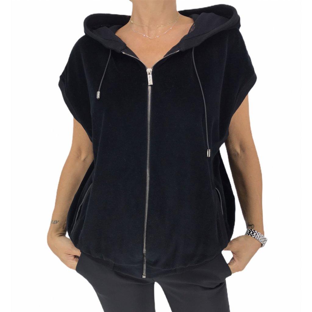 VERSACE Black Hooded Vest
