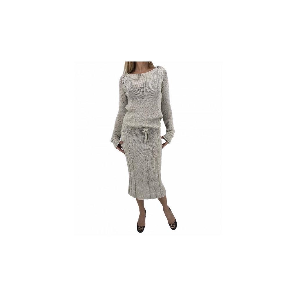 DENISA NOVÁ Knitted Beige Dress