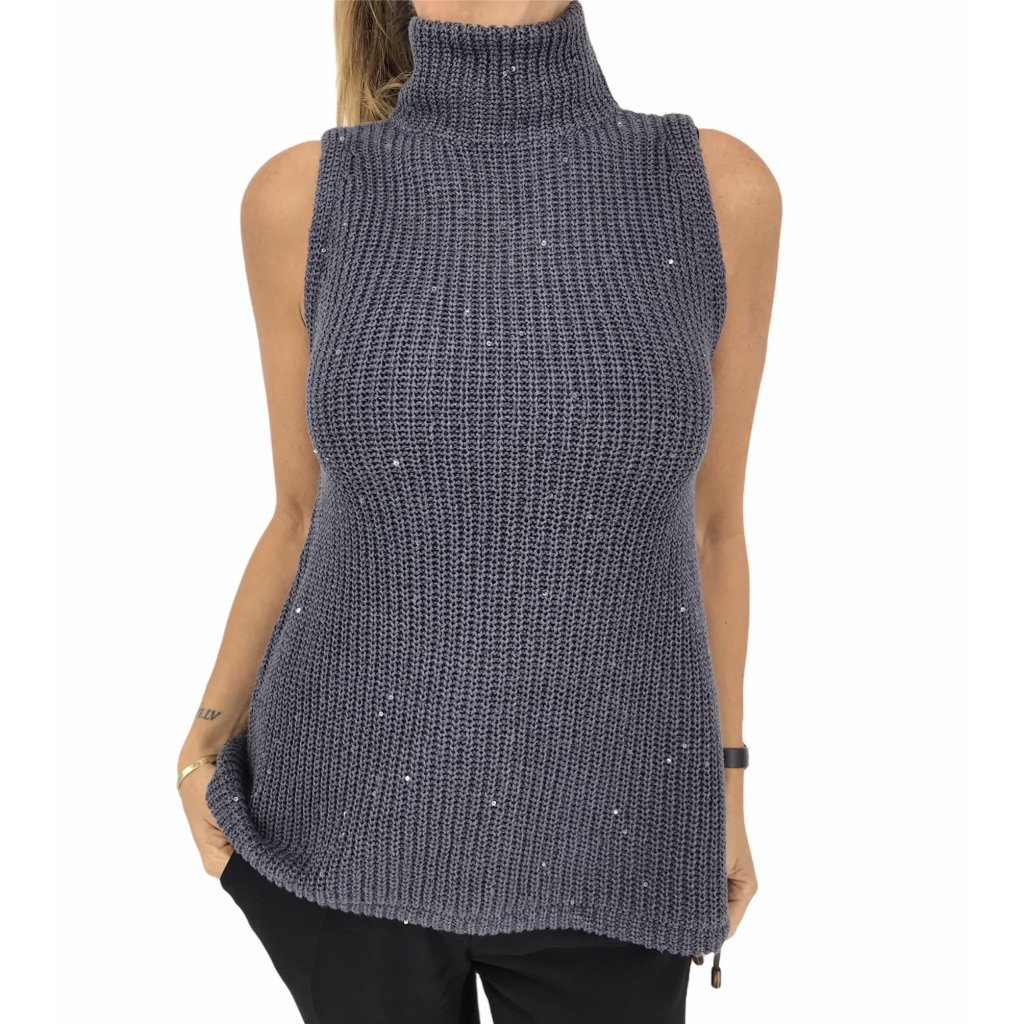 BRUNELLO CUCINELLI Knitted Sleeveless Top