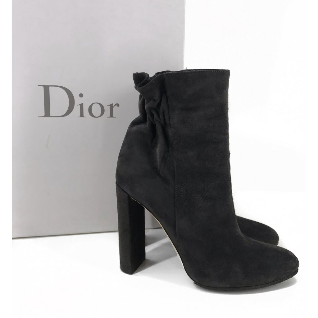 CHRISTIAN DIOR Grey Ankle Boots 36,5