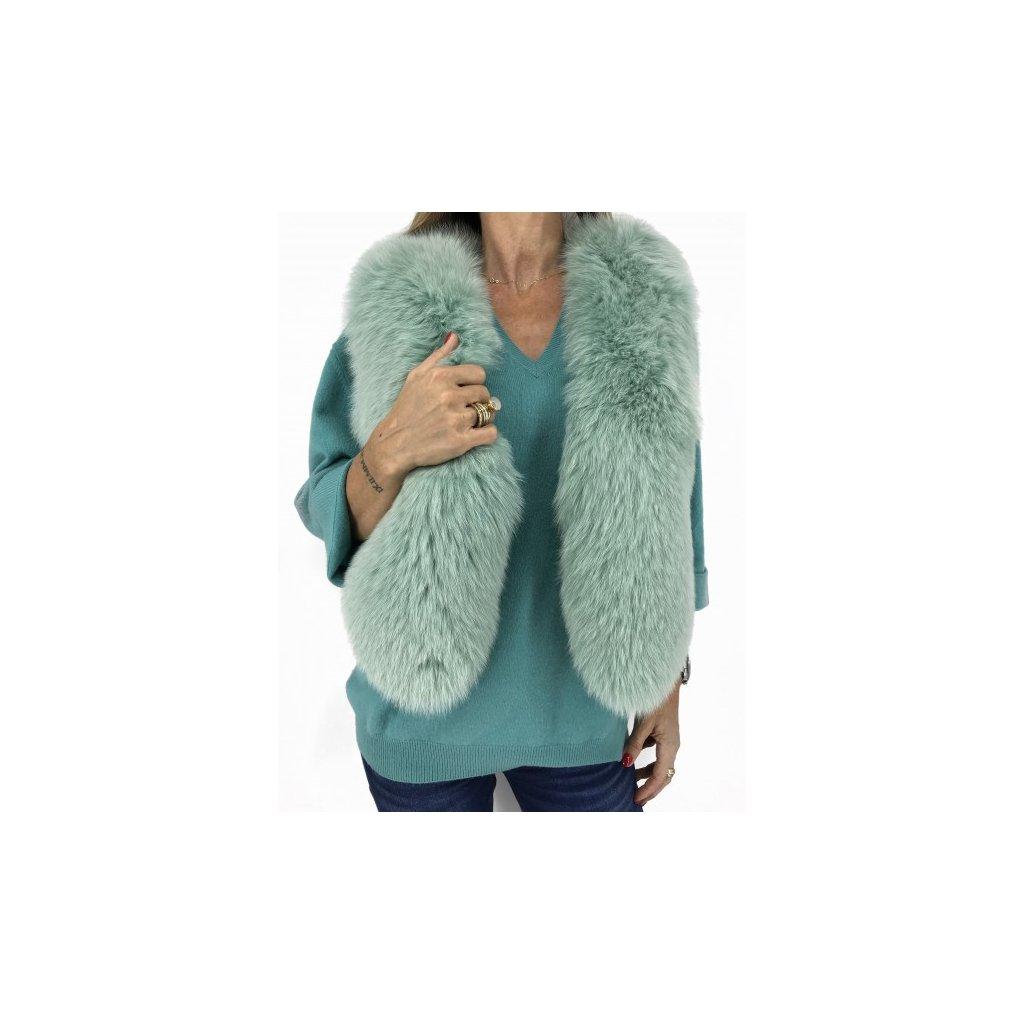 I.A.M Turquoise Fur Vest