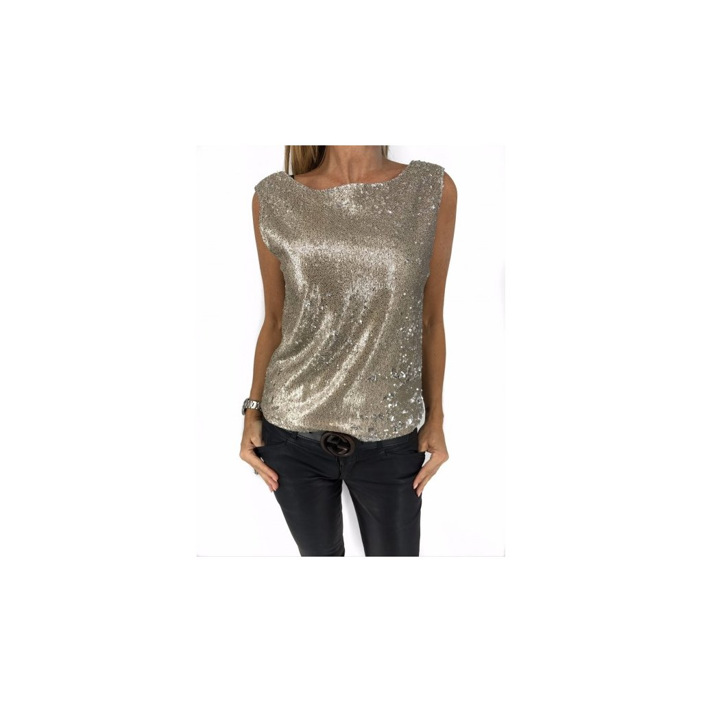 ANINE BING Glitter Top