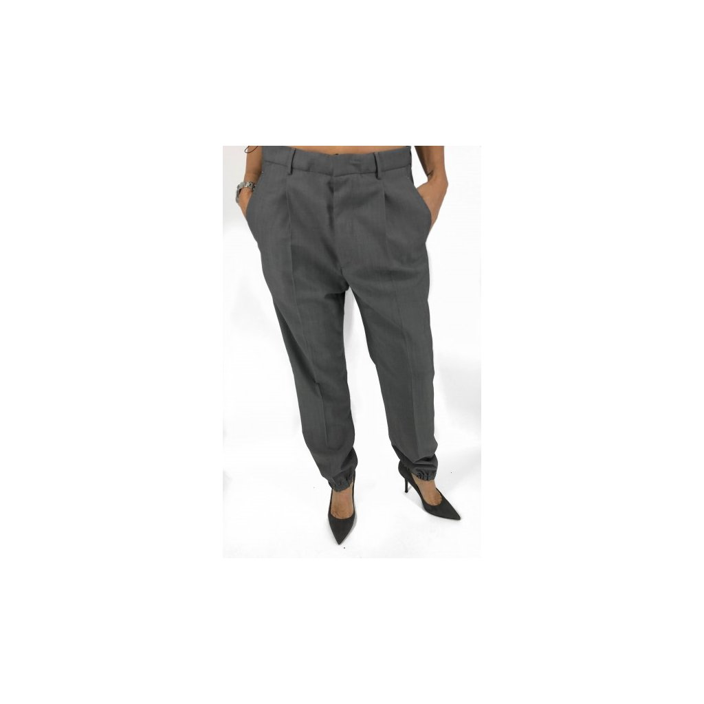 PRADA Grey Wool & Mohair Pants NEW