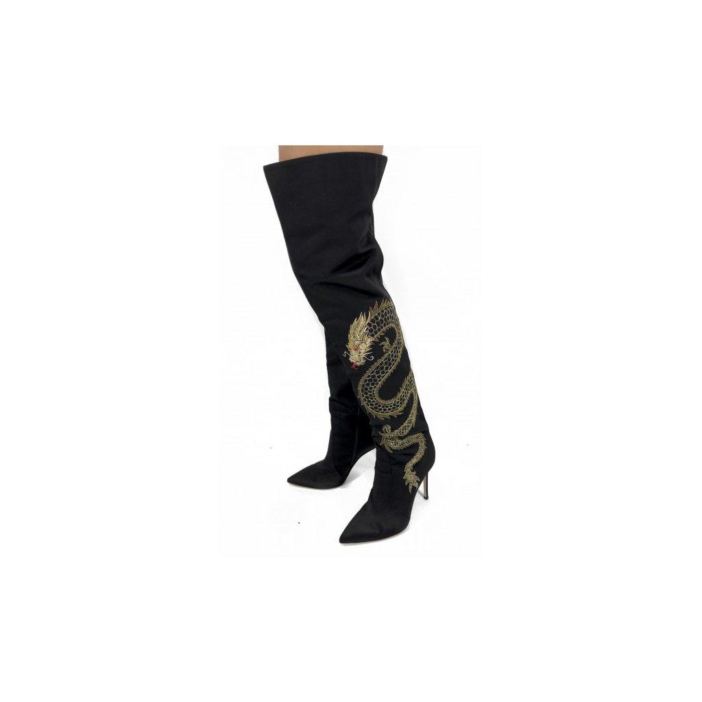 GIANVITO ROSSI Black High Heels Boots NEW 41
