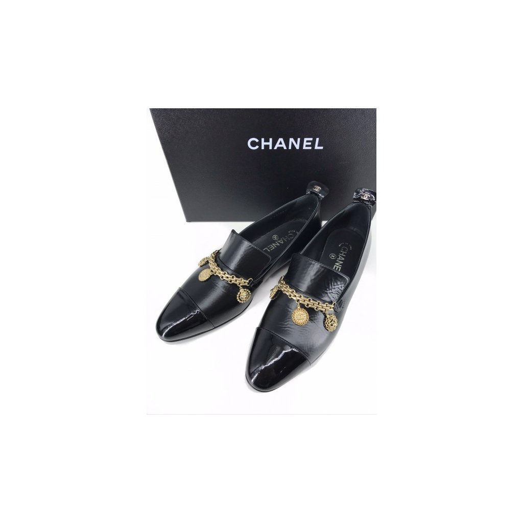 CHANEL Black Leather Ballerinas NEW
