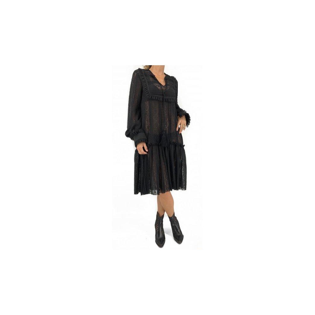 TIQE by PETRA BALVÍNOVÁ Black Laced Dress