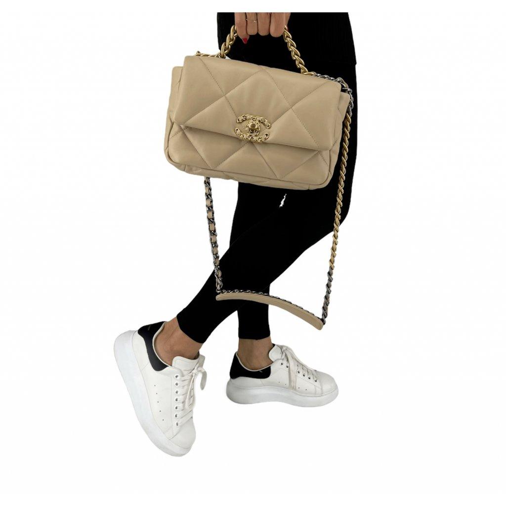 CHANEL 19 Beige Flat Bag NEW