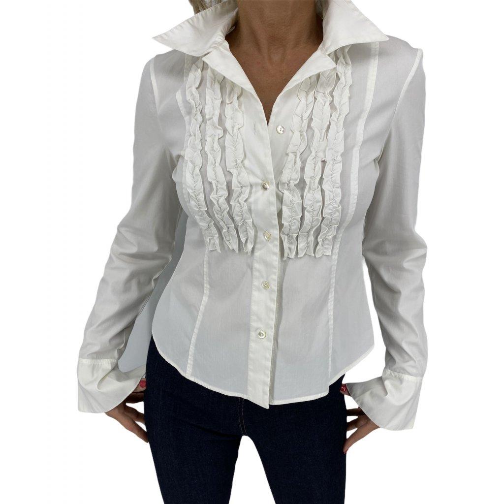 BLUMARINE Long sleeve Cream Blouse