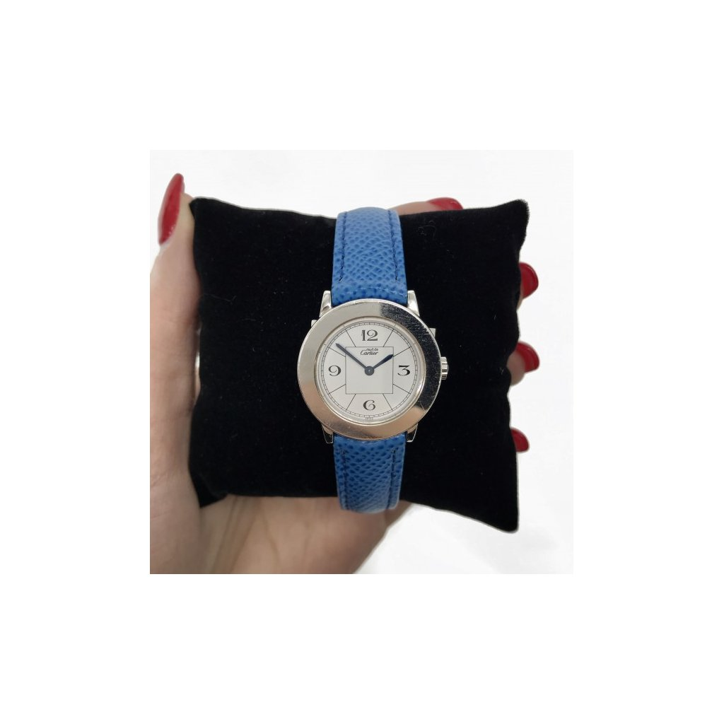 CARTIER Blue Leather Watch