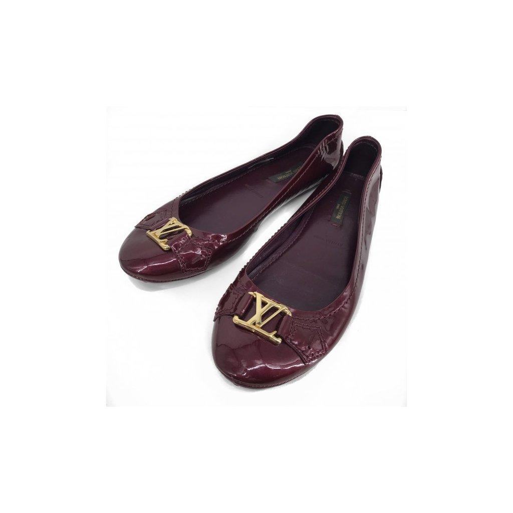 LOUIS VUITTON Burgundy Ballerinas