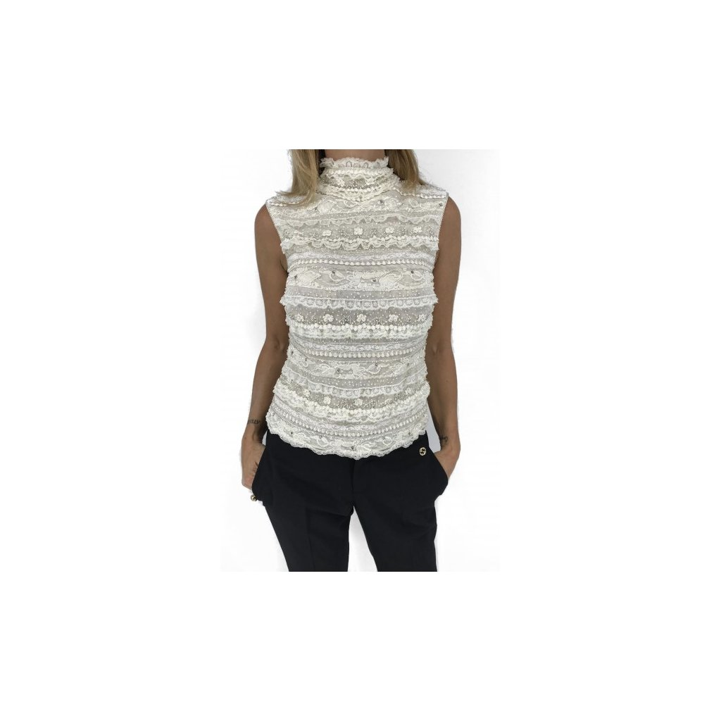 ESCADA White Laced Top